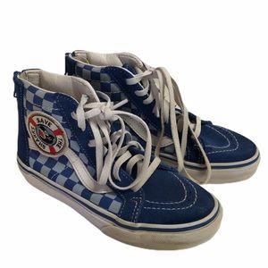 Vans Shark Week blue checkered shoes